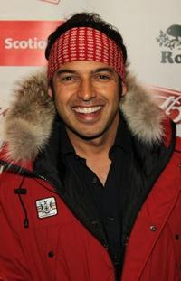 Shaun Majumder at the Club Bud NHL party.