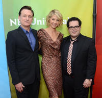 Bill Pullman, Jenna Elfman and Josh Gad at the day 1 of the 2013 Winter TCA Tour in California.