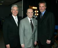 Bob Newhart, Stephen Einhorn and Matt Lasorsa at the 2005 DVD Exclusive Awards.