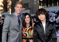 Joe Slaughter, Jennifer Gibgot and Adam G. Sevani at the world premiere of