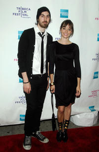 Director Ti West and Jocelin Donahue at the New York premiere of
