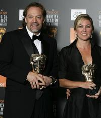 Gregory Nicotero and Nikki Gooley at the Orange British Academy Film Awards (BAFTAs).