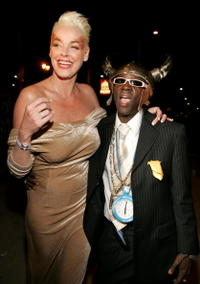 Brigitte Nielsen and rapper Flavor Flav at the VH1 Big in 04.