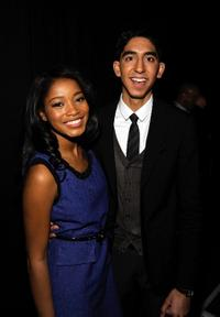 Keke Palmer and Dev Patel at the Nickelodeon Upfront Presentation.