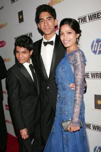 Ashutosh Lobo Gajiwala, Dev Patel and Freida Pinto at the Fox Searchlight Oscar after party of
