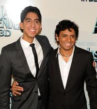 Dev Patel and director M. Night Shyamalan at the premiere of