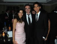 Freida Pinto, Danny Boyle and Dev Patel at the Soho House Grey Goose after party.