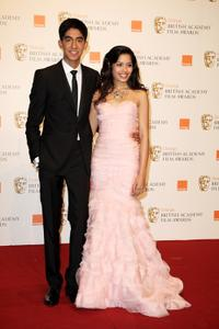 Dev Patel and Freida Pinto at the Orange British Academy Film Awards.