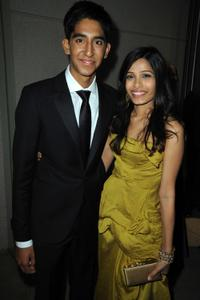 Dev Patel and Freida Pinto at the Fox Searchlight Pictures Golden Globe Party.