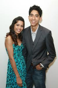 Freida Pinto and Dev Patel at the 2008 Tribeca Cinema Series.