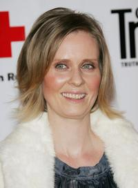Cynthia Nixon at the Conde Nast Travelers Annual Hot List Issue Party.