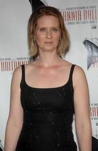 Cynthia Nixon at the Britannia Ball at the Brooklyn Cruise Terminal in Brooklyn, New York.