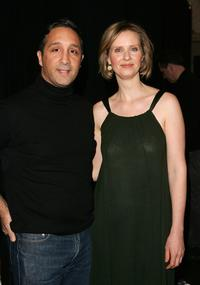 Cynthia Nixon and Jeff Mahshie at the Chaiken Fall 2007 fashion show during Mercedes-Benz Fashion Week.