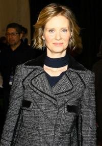 Cynthia Nixon at the J Mendel Fall 2007 fashion show during Mercedes-Benz Fashion Week.