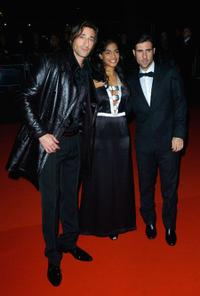 Adrien Brody, Amara Karan and Jason Schwartzman at the premiere of