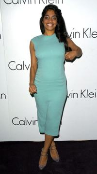 Amara Karan at the presentation of Calvin Klein's new collection.