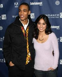 Eugene Jones and Summer Bishil at the premiere of