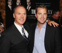 Chris O'Donnell and Michael Keaton at the Los Angeles premiere screening of