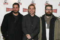Brookstreet Pictures founders Jon Knautz, Trevor Matthews and Patrick White at the premiere of