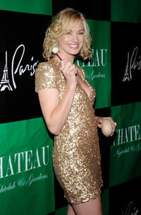 Yvonne Strahovski at the Chateau Nightclub & Gardens to celebrate Strahovski's in Las Vegas.