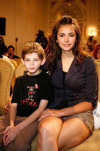Robbie Kay and Nina Dobrev at the TIFF 2007 Press Conference for