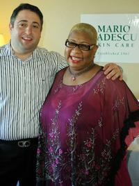 Jack M. Cabasso and Luenell at the Stuart Weitzman Luxury Suite.