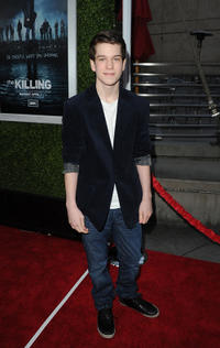 Liam James at the Season 5 California premiere of