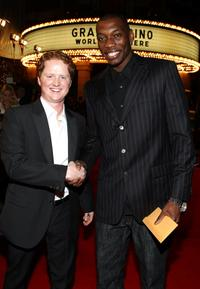 Christopher Carley and Nana Gbewonyo at the world premiere of