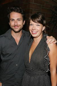Charlie Day and Mary Elizabeth Ellis at the Season Four premiere screening of