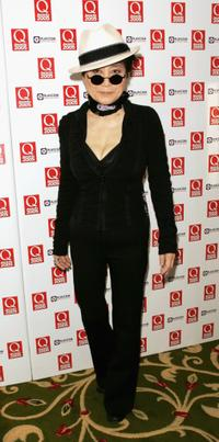 Yoko Ono at the Q Awards the annual magazines music awards.