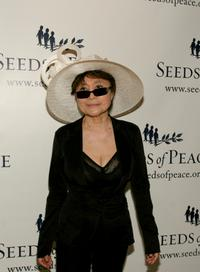 Yoko Ono at the Seeds of Peace 15th annual gala.