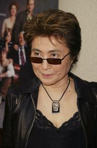 Yoko Ono at the New York premiere of