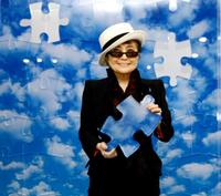 Yoko Ono at the unveiling of her artwork entitled
