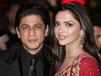 Shah Rukh Khan and Deepika Padukone at the world premiere screening of
