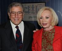 Tony Bennett and Iris Cantor at the Announcement of a $20 million gift to establish the Iris Cantor Men's Health Center.