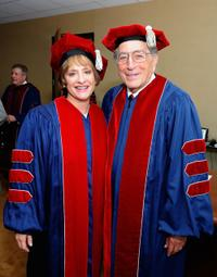 Patty Lupone and Tony Bennett at the 2010 commencement ceremony in New York City.