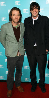 Brendan Cowell and Toby Schmitz at the Australian premiere of