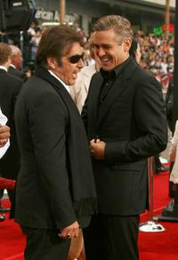 Al Pacino and George Clooney at the Warner Bros. premiere of