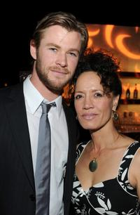 Chris Hemsworth and Rena Owen at the Australians In Film's 2010 Breakthrough Awards.