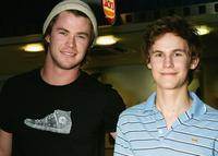 Chris Hemsworth and Rhys Wakefield at the Sydney premiere of