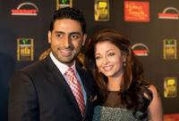 Abhishek Bachchan and Aishwarya Rai Bachchan at the 2009 International Indian Film Academy Awards.