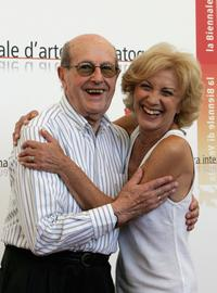 Director Manoel de Oliveira and Marisa Paredes at the photocall of