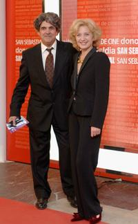Marisa Paredes and her husband Antonio Isasi-Isasmendi at the 53rd San Sebastian International Film Festival.