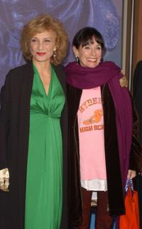 Marisa Paredes and Geraldine Chaplin at the 17th Goya Awards Nomination Gala.