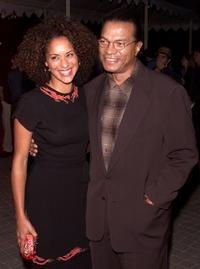 Karyn Parsons and Billy Dee Williams at the premiere of