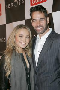 Adrian Pasdar and Hayden Panettiere at the celebration for the wrap of season one for NBC's