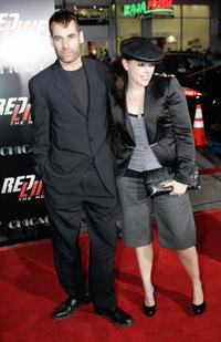 Adrian Pasdar and his wife Natalie Maines at the premiere of