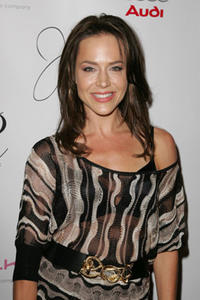 Julie Benz at the debut of Jaime Pressly's Spring/Summer 2008 J'aime Collection in L.A.