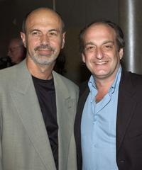 Richard Crystal and David Paymer at the debut performance of Crystal's new jazz/big band album