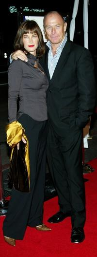 Amanda Pays and her husband at the premiere of